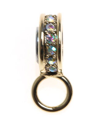 KIRKS FOLLY CHARM / PIN HOLDER TO USE WITH THE MAGNETIC NECKLACES!  GOLDTONE ~