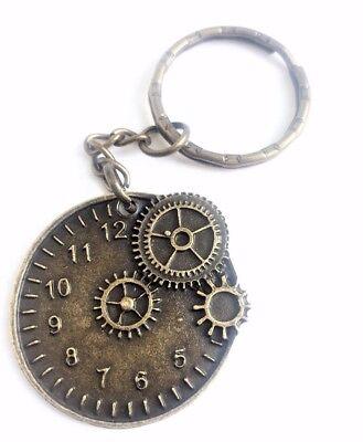 2 Or 5PCs Alice In Wonderland Key And Clock Antiqued Bronze Pendant C5288-1
