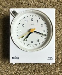 Lovely White Braun BNC004WHWH Quartz Alarm Clock RAMS