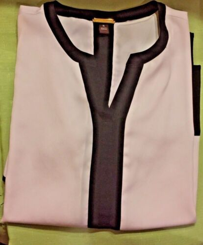 dana buchman black and white beautiful blouse