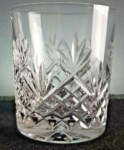 "GALWAY Crystal ATLANTIC  3 5/8"" Old Fashioned Lowball TUMBLER Fan Cut Glass"
