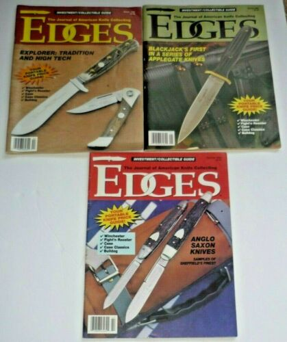 3 EDGES Magazines Winter Spring Summer 1994 Journal of American Knife Collecting
