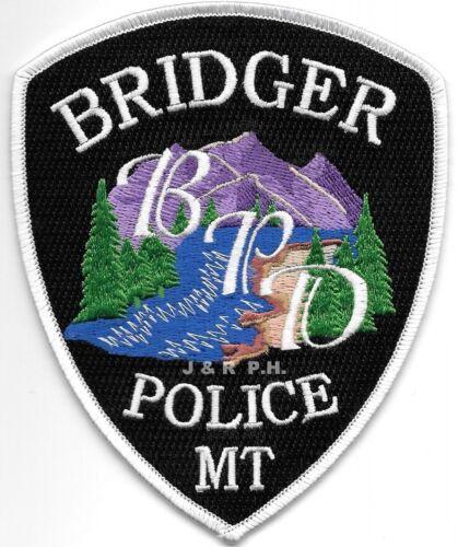 "Bridger, Montana (4"" x 5"" size) shoulder police patch (fire)"