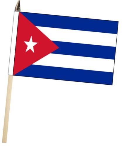 Cuba Large Hand Waving Courtesy Flag
