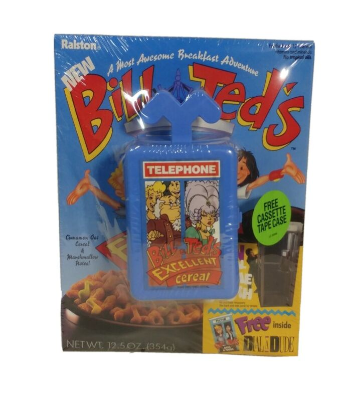Bill and Ted's Excellent Adventure Cereal Factory Sealed w/ 2 Premiums 1991
