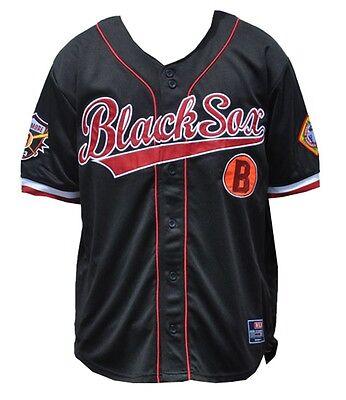 NLBM Mens Baltimore Black Sox Baseball Jersey Black