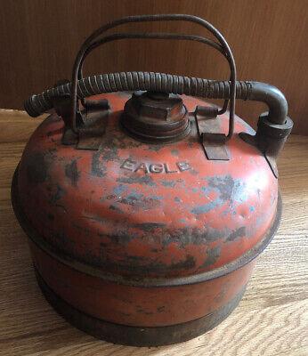 Vintage Rare Eagle Flexo-spout 2.5 Gallon Steel Gas Can Collectible