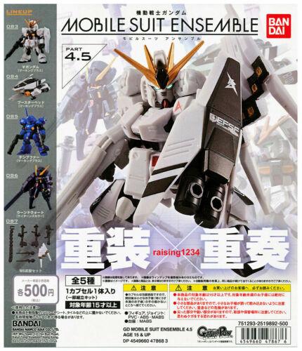 Bandai Mobile Suit Gundam Ensemble 4.5 Gashapon Figure Full Set 5 pcs US SELLER