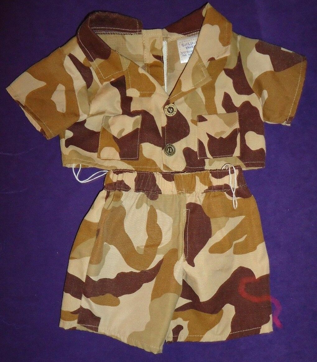 BABW Camouflage Brown/Tan Shirt & Pants for Build A Bears Army Military Outfit