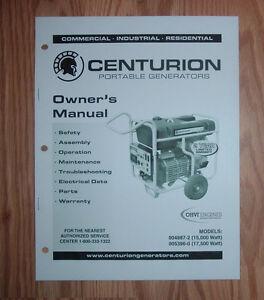 Generac centurion 5000 owners manual