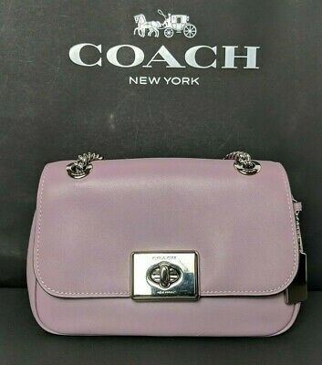 Carnation Cross - Coach Mini Cassidy Cross Body Bag Carnation/Jasmine Leather $298 F73089 New