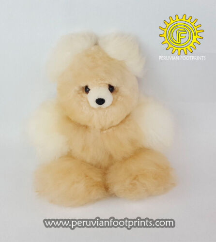100% Baby Alpaca Fur Teddy Bear 14″, Handmade Peruvian Toy, stuffed animals