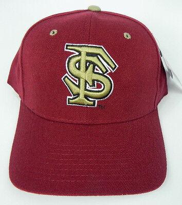 FLORIDA STATE ST. SEMINOLES MAROON NCAA VINTAGE FITTED ZEPHYR DH CAP HAT - Maroon Ncaa Hat