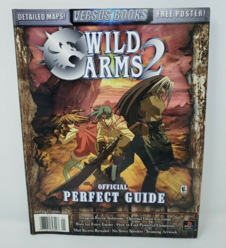 Vintage Wild Arms 2 Official Perfect Guide with Poster