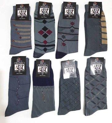 Herren Designer Mehrfarben 100% Weich Baumwollreich Kleid & Freizeit Socken - 100% Baumwolle Kleid Socken