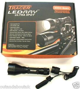 DEBEN TRACER LEDRAY LATEST ULTRA SPOT LED SCOPE MOUNTED GUN LIGHT LAMP TORCH
