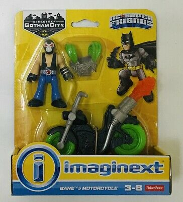 Fisher-Price Imaginext DC Super Friends Streets of Gotham City Bane & Motorcycle