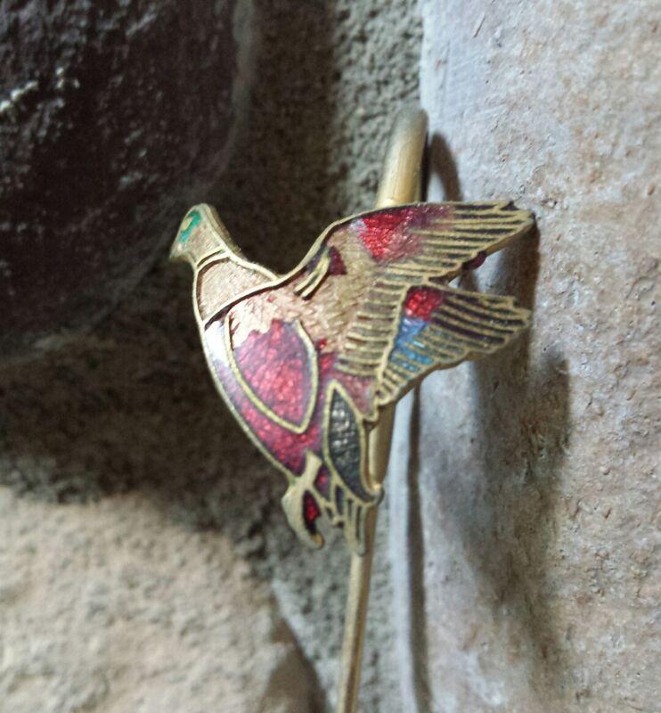 VTG Brass Drink Mixer Marker Enamel Duck Figure Mid Century Metal Swizzle Stick