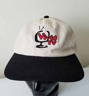 Vivid Entertainment TV Channel Embroidered Adult Slouch Fit Baseball Cap Hat