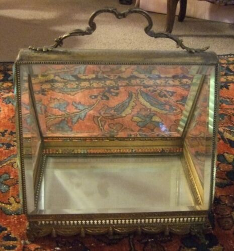 Antique Bronze Display Case Rare