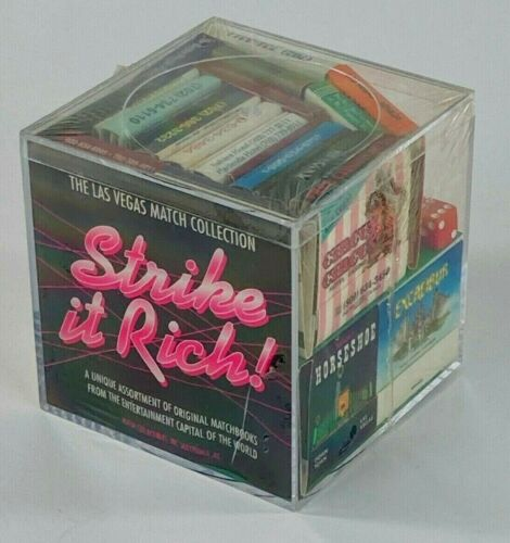 "Vintage Las Vegas Casino Hotel Souvenir Matches ""Strike it Rich"" Collection"