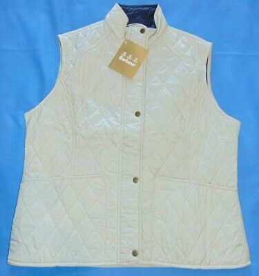 NWT  BARBOUR Womens Quilted Summer Liddesdale Gilet Full Zip Jacket Vest US 16