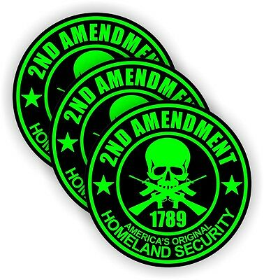 2nd Amendment Hard Hat Stickers Welding Motorcycle Usa Helmet Decals Mag Lime