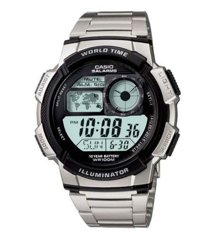Casio Men's Digital Sport Watch Stainless Steel AE1000WD-1AV