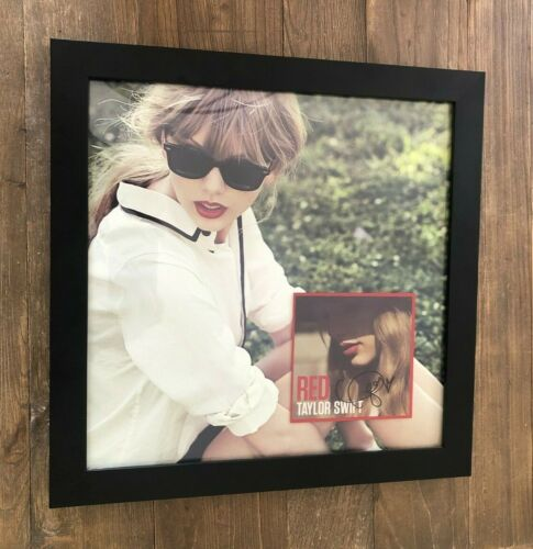 """RARE Taylor Swift Lithograph Autographed Red Album 16"""" x 16"""" Limited Edition"""