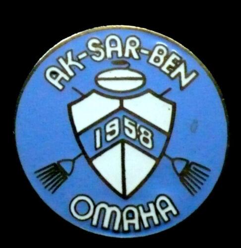 RARE Curling Pin - Ak-Sar-Ben 1958 Omaha Nebraska