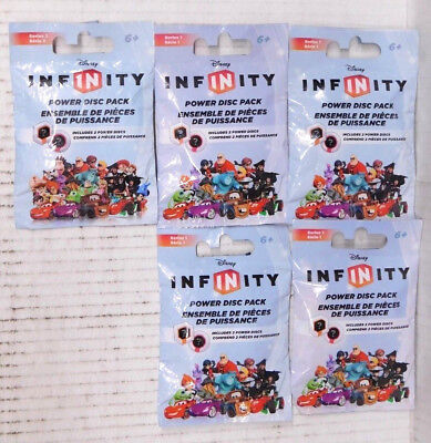 DISNEY INFINITY POWER DISC PACKS (4x Series 1, 1x Series 2) LOT