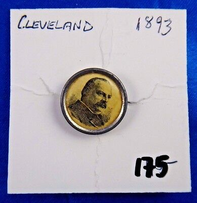 1893 Grover Cleveland Presidential Political Campaign Stud Pin Pinback Button