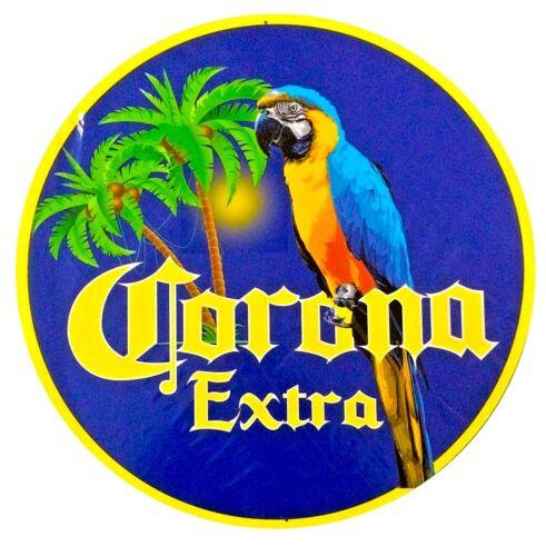 """Corona Extra Parrot 24"""" Diameter Metal Sign"""