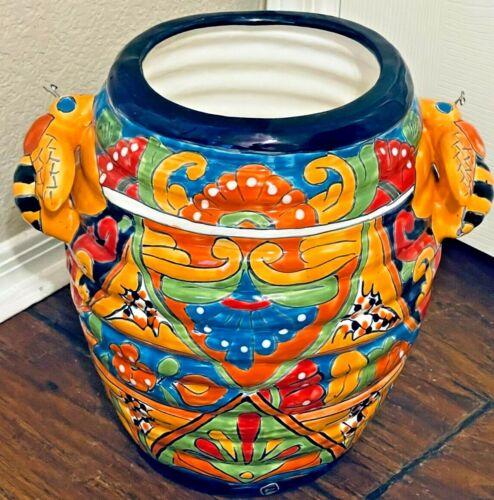 """Talavera Planter Honey Pot Bee Mexican Folk Art Pottery 13"""" x 11"""""""