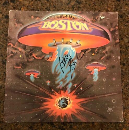 * BARRY GOUDREAU * signed autographed vinyl album * BOSTON * DEBUT ALBUM * 2
