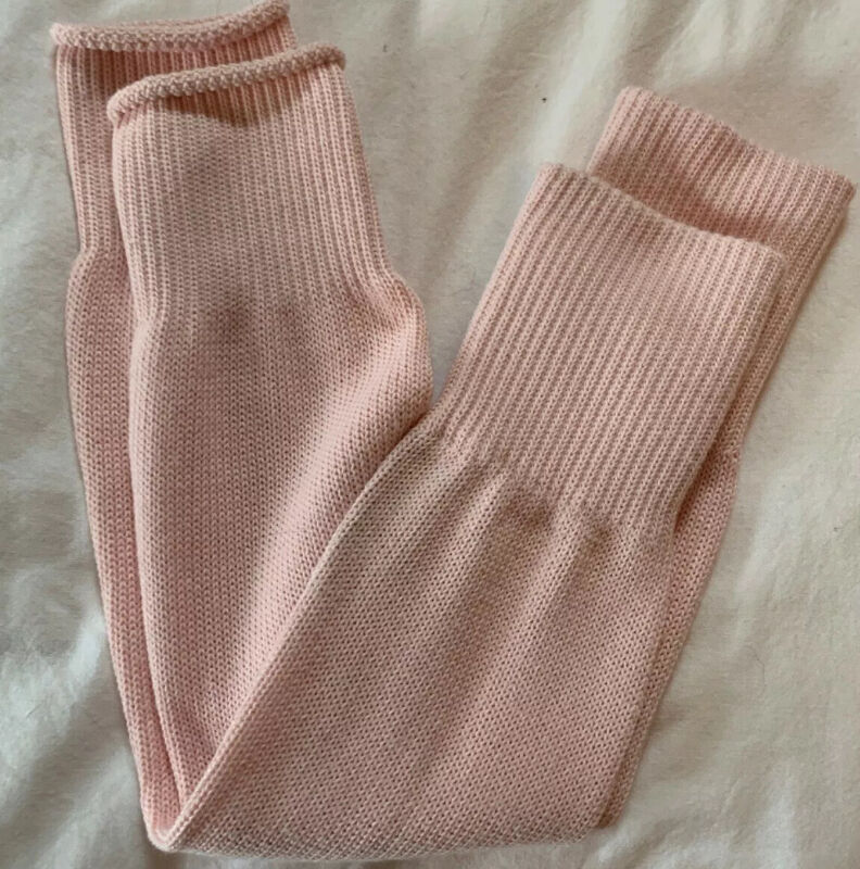 Pink Knitted Ballet Leg Warmers - Excellent Condition