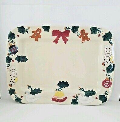 HARTSTONE Christmas Traditions Lg. Platter Rectangular NEW Ornaments & Stockings