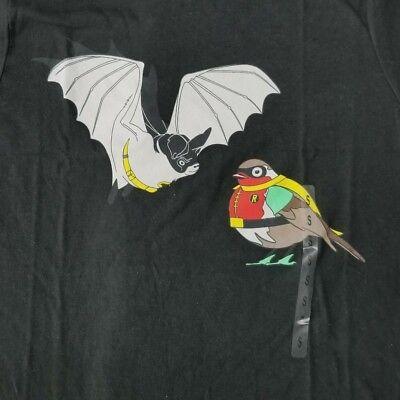 Batman Robin Men's Small T-Shirt Bat Bird Funny Licensed DC Comics Cartoon Movie