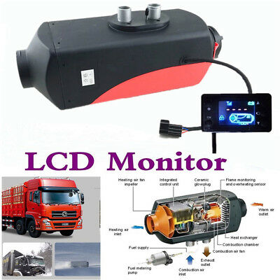 5KW 12V Aluminum Car Trailer Diesel Air Heater Tank Heat Time & Power Adjustable