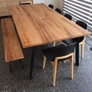 Wormy chestnut timber dining table Sandringham Bayside Area Preview