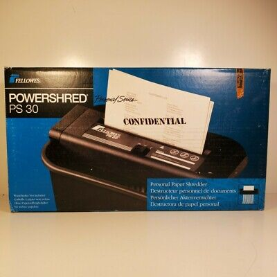 New Fellowes Powershred Ps 30 Officepaperdocument Shredder