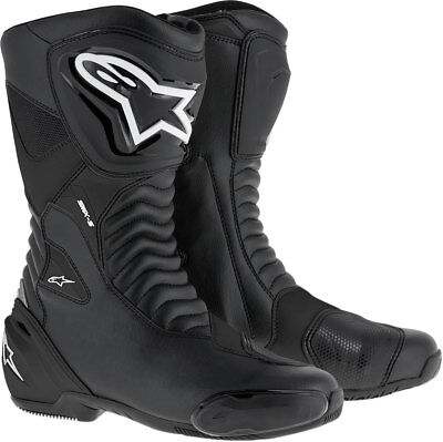 Alpinestars SMX-S Leather Motorcycle Riding Boots (Black) Choose Size