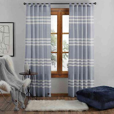 UGG Riley Stripe 84-Inch Tab Top Window Curtain Panel in -