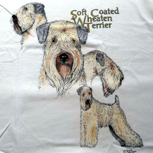 "Soft Coated Wheaten Terrier T-shirt  "" White "" SM ( 34 ~ 36 )"