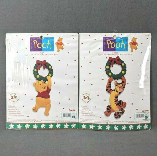 Bucilla Winnie the Pooh Christmas Door Knob Cover Kits Felt Applique Pooh Tigger
