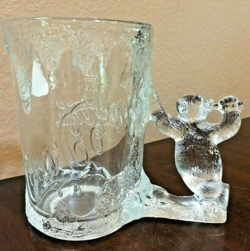 Coca Cola Heavy Glass Mug with Bear Handle