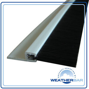 Weatherbar PVC Brush Draught/Draft Excluder, 33/36
