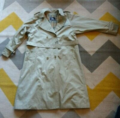 Vintage - Burberry Raincoat Coat - Novacheck Lined - UK 18 Long *FREE UK P&P*