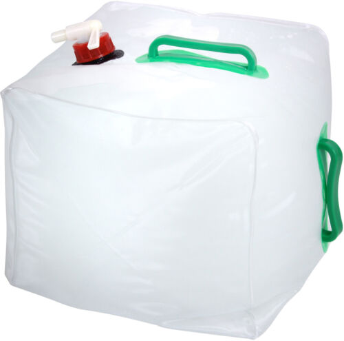 Collapsible Water Container With Spigot 5 Gallon Camping Water Storage Jug