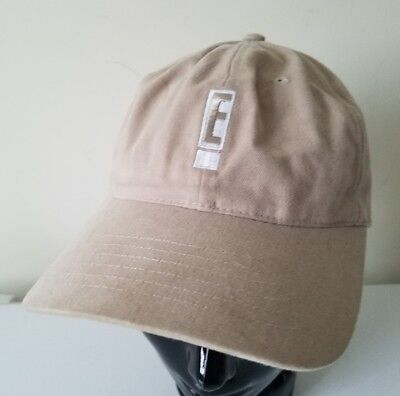 E! Entertainment Channel Network Khaki Television Embroidered Baseball Hat Cap